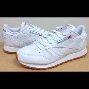 White Leather Reebok Classics